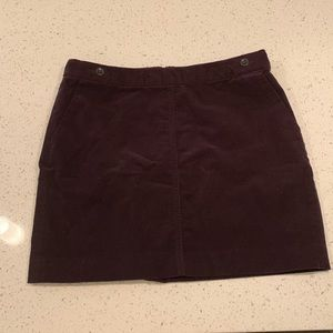 Dark Purple Corduroy Banana Republic Mini Skirt